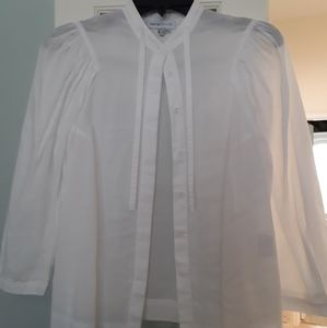 See by Chloe white button-up, puff sleeves sz 6